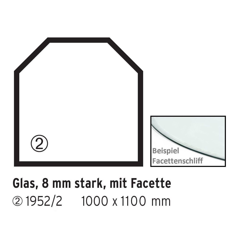 Firefix  Glasbodenplatte Sechseck