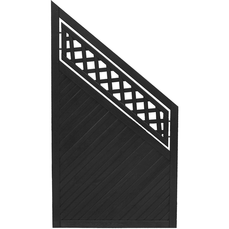 Sonstige Sichtschutzzaun Anschlusselement Nevers Anthrazit 164 x 90 cm auf 90 cm