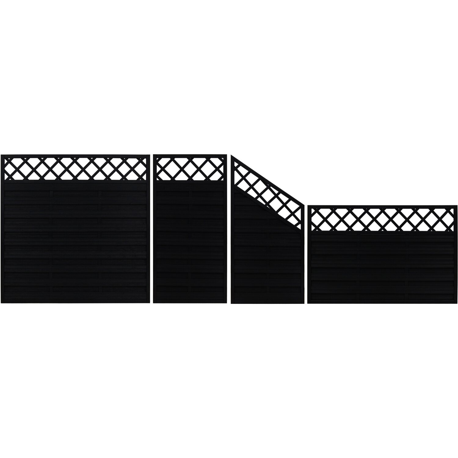 sichtschutzzaun element country anthrazit 120 cm x 180 cm kaufen bei obi. Black Bedroom Furniture Sets. Home Design Ideas