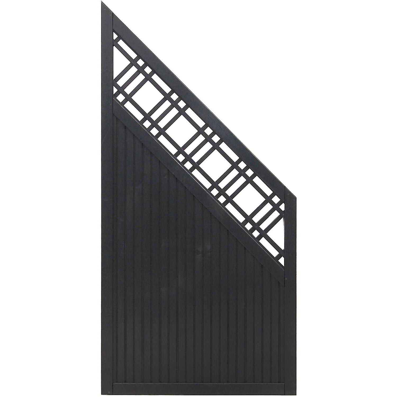 Sonstige Sichtschutzzaun Anschlusselement Caen Anthrazit 180 x 90 cm auf 90 cm