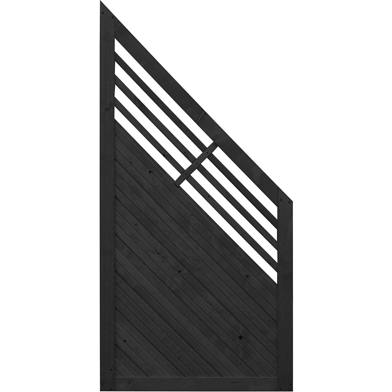 Sonstige Sichtschutzzaun Anschlusselement Manhattan Anthrazit 180 x 90 cm auf 90 cm