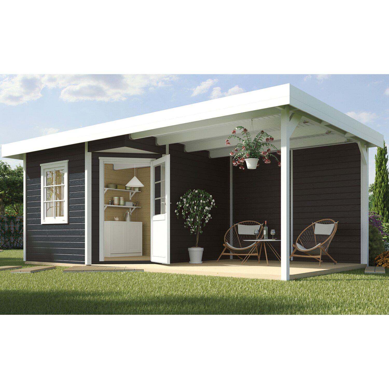 weka holz gartenhaus san remo a anthr wei bxt 541 x 238 cm davon 303 cm terr kaufen bei obi. Black Bedroom Furniture Sets. Home Design Ideas