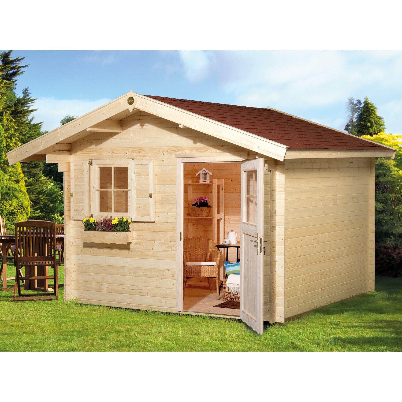 weka holz gartenhaus belluno natur bxt 300 cm x 250 cm kaufen bei obi. Black Bedroom Furniture Sets. Home Design Ideas