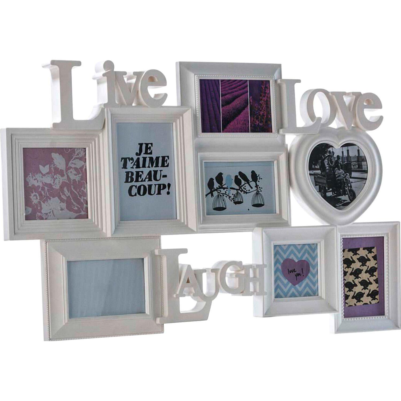 best of home Best of home Bilderrahmen Live Love Laugh 48 cm x 75 cm x 3 cm