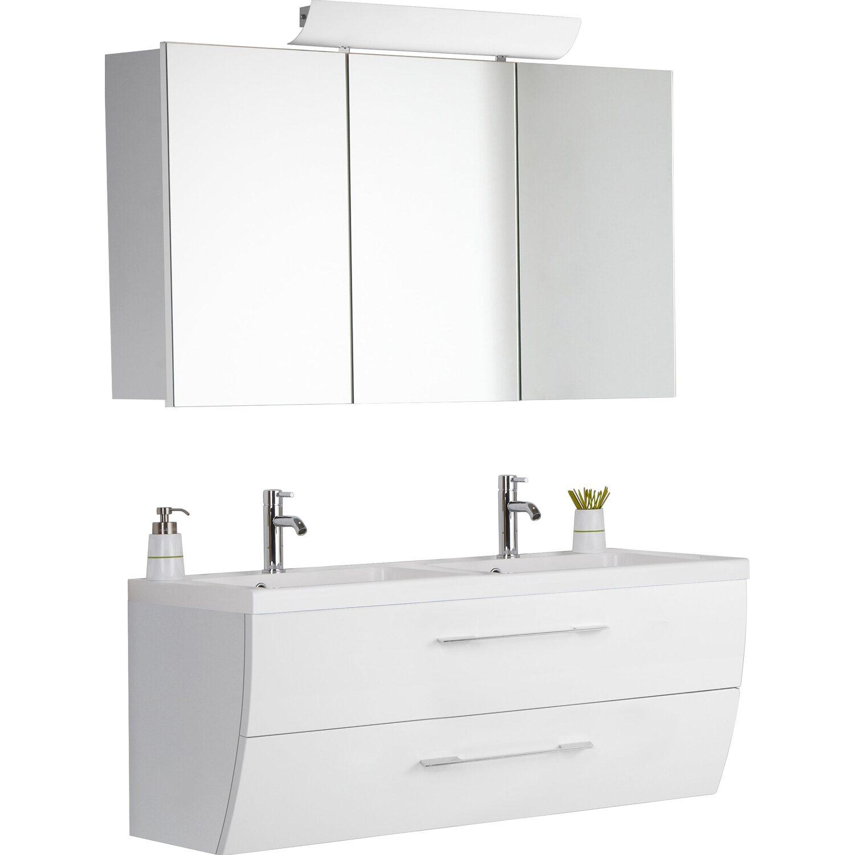 Scanbad Doppel-Waschplatz Rumba 120 cm Weiß 3-teilig kaufen bei OBI
