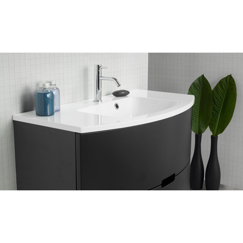 badmobel schwarz, scanbad badmöbel-set 120 cm mit spiegelschrank 2-türig modern, Design ideen