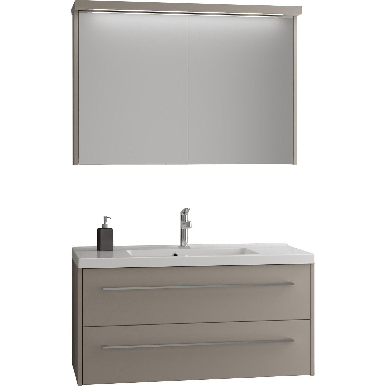 Scanbad Badmöbel-Set 100 cm mit Spiegelschrank Fox Vanilla Grey 3 ...