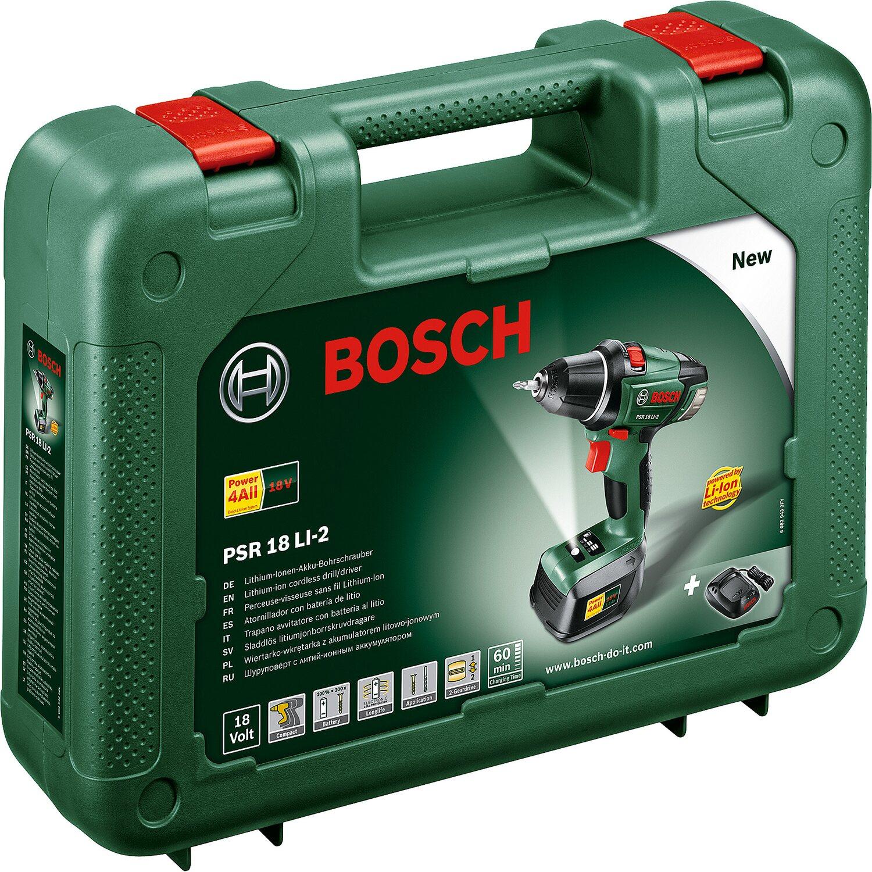 Bosch Akku Bohrschrauber 18 V PSR 18 LI 2 kaufen bei OBI