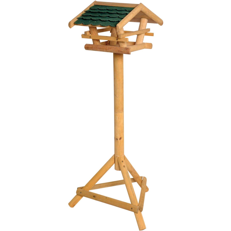 Vogelhaus mit Ständer FSC Holz grüne Schindeln Vogelhäuschen Vogelfutterhaus NEU