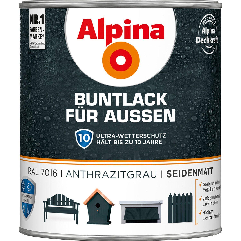 Holzfarben Außen Obi : alpina buntlack f r aussen anthrazit seidenmatt 750 ml kaufen bei obi ~ Whattoseeinmadrid.com Haus und Dekorationen