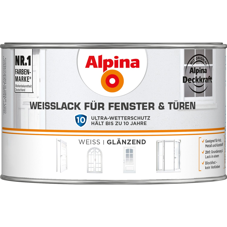 alpina wei lack f r fenster t ren gl nzend 300 ml kaufen bei obi. Black Bedroom Furniture Sets. Home Design Ideas