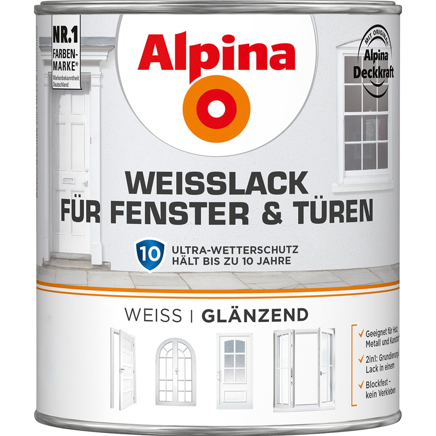 alpina wei lack f r fenster t ren gl nzend 750 ml kaufen bei obi. Black Bedroom Furniture Sets. Home Design Ideas