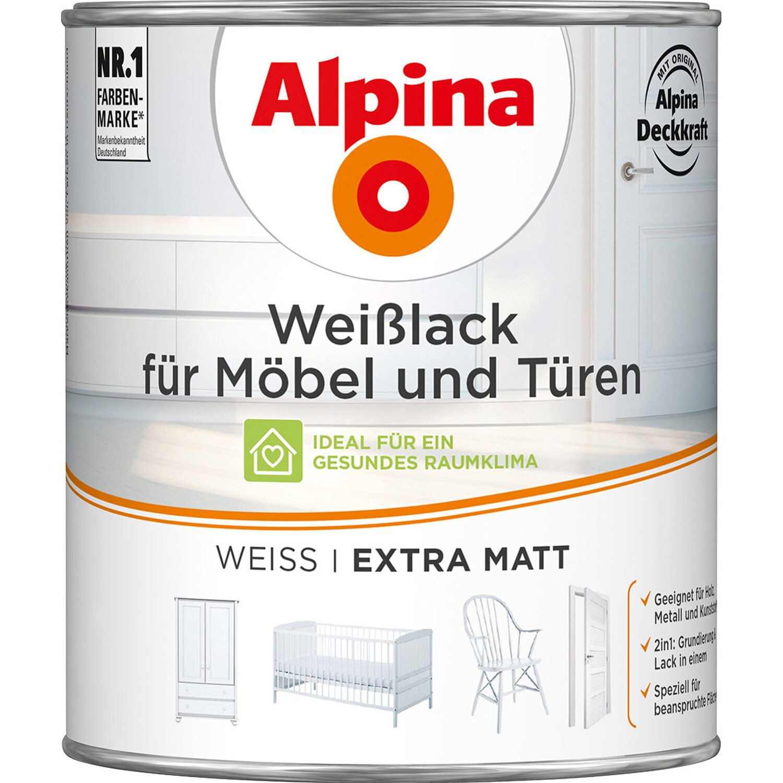 Alpina wei lack f r m bel t ren matt 750 ml kaufen bei obi - Mobel abholen lassen ...