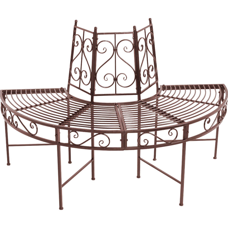 garden pleasure baumbank h lfte aus metall 3 sitzer rost. Black Bedroom Furniture Sets. Home Design Ideas