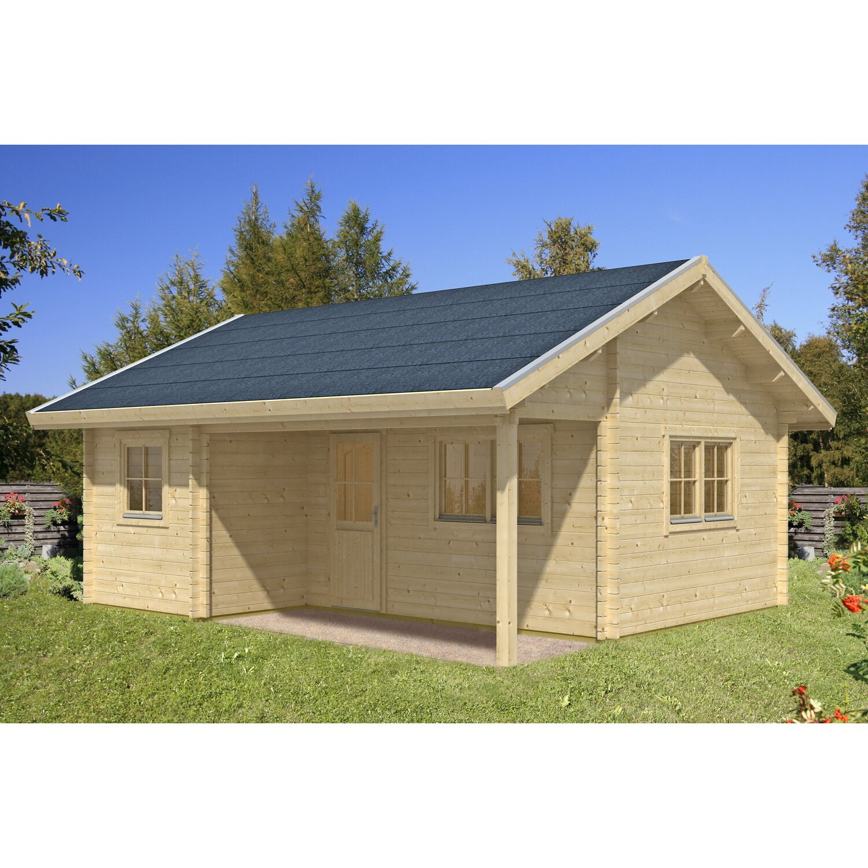 Skan holz gartenhaus ontario mit dachschalung b x t 600 cm for Holz doppeltur gartenhaus
