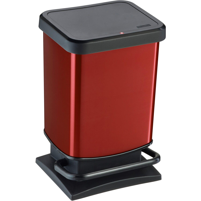 rotho tret m lleimer paso 20 l metallic rot kaufen bei obi. Black Bedroom Furniture Sets. Home Design Ideas