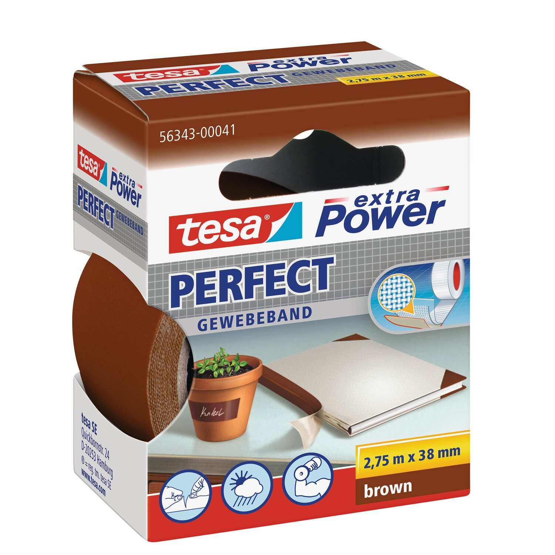 tesa Extra Power Perfect Gewebeband braun 2,75m:19mm