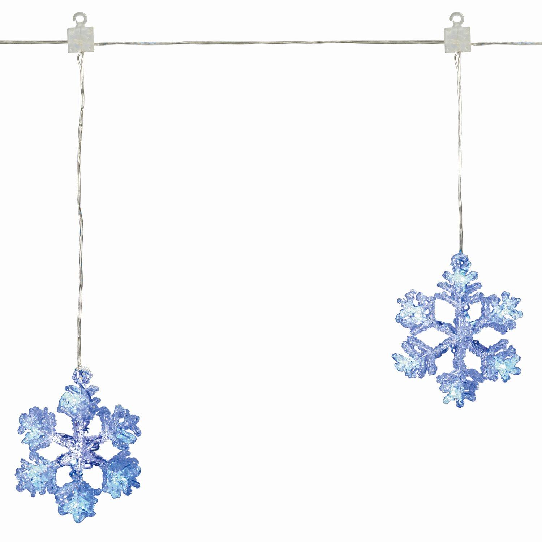 obi led schneeflockenvorhang 35 led blau 0 3 m x 1 2 m. Black Bedroom Furniture Sets. Home Design Ideas