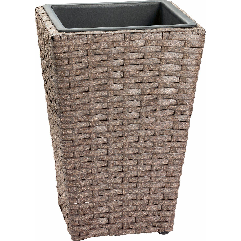 kunststoff bertopf 40 cm x 28 cm x 28 cm grau kaufen bei obi. Black Bedroom Furniture Sets. Home Design Ideas