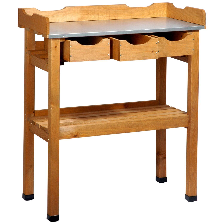 pflanztisch mit 3 schubladen und 2 ablagefl chen kaufen bei obi. Black Bedroom Furniture Sets. Home Design Ideas