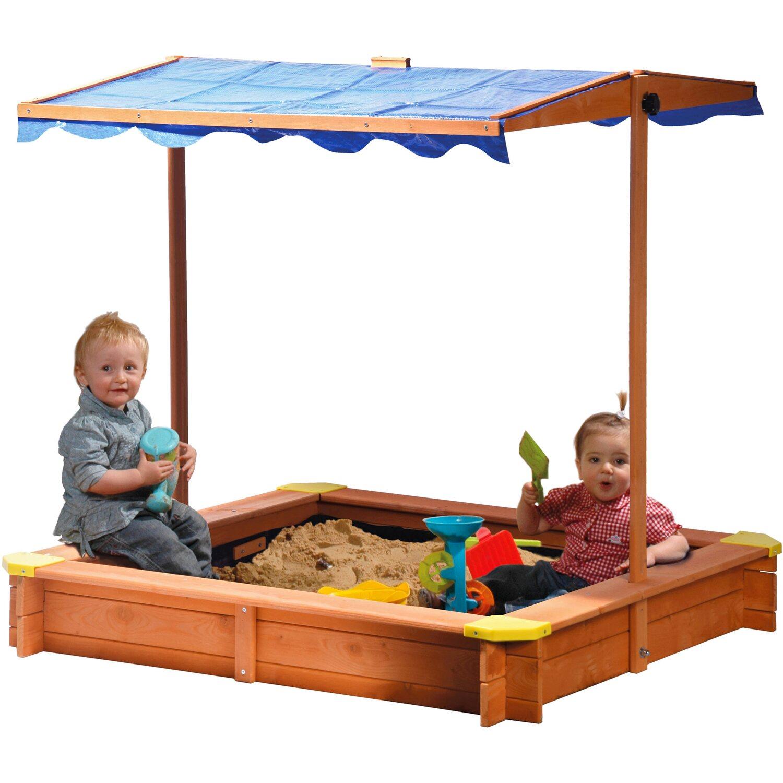 dobar sandkasten mit h henverstellbarem und neigbarem dach. Black Bedroom Furniture Sets. Home Design Ideas