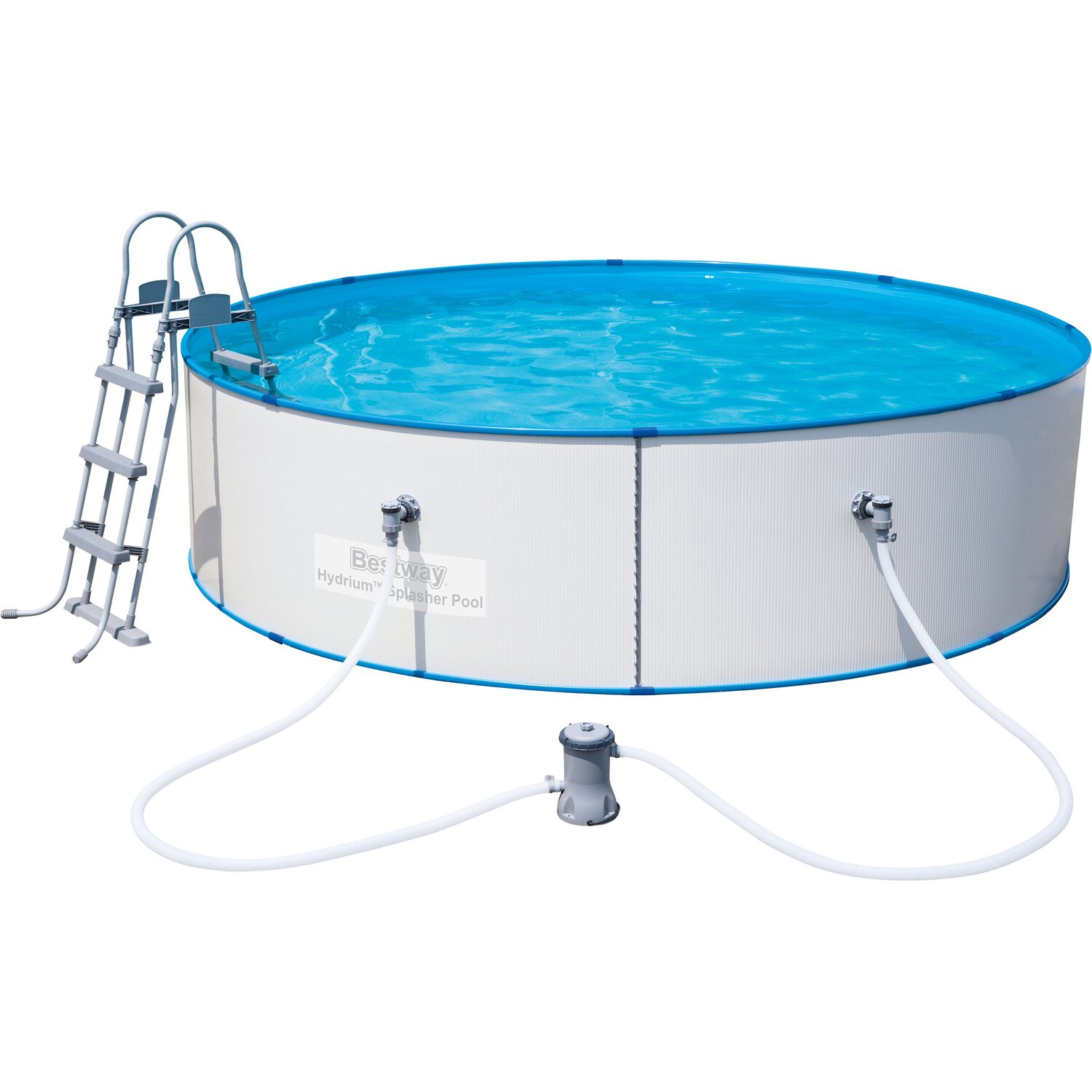 Bestway stahlwand pool set hydrium splasher 360 cm x 90 for Obi pool set