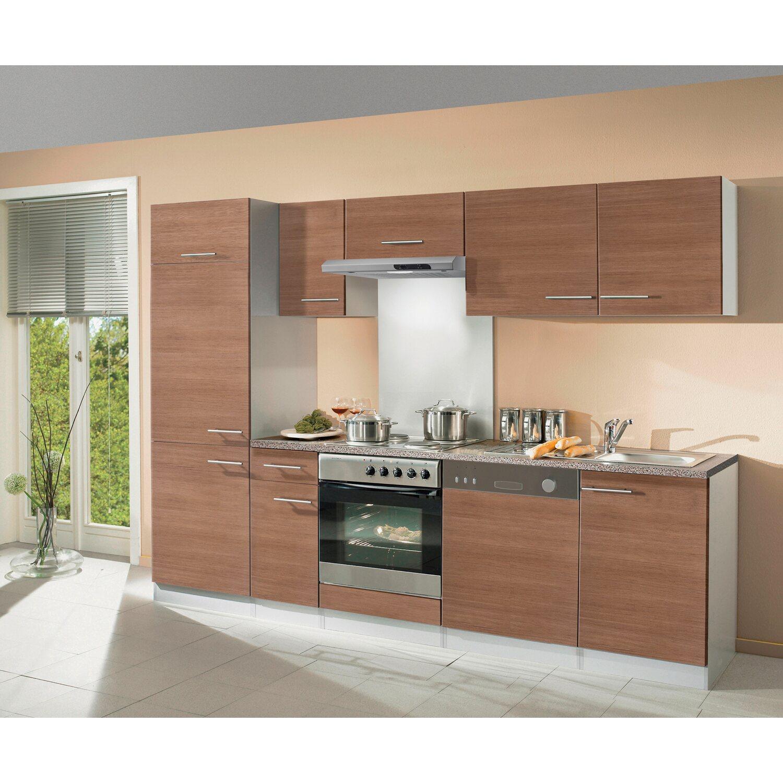k chenblock 270 cm inkl ger ten samarra nussbaum nachbildung alu nachbildung kaufen bei obi. Black Bedroom Furniture Sets. Home Design Ideas