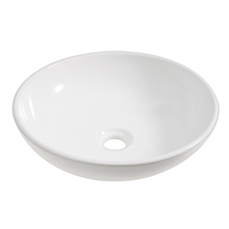 OBI Aufsatzwaschbecken Sola 42 cm rund Weiß