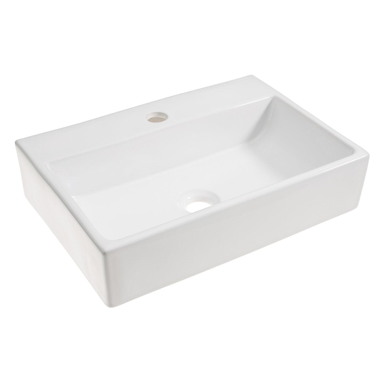 obi aufsatzwaschbecken tamega 52 cm eckig wei kaufen bei obi