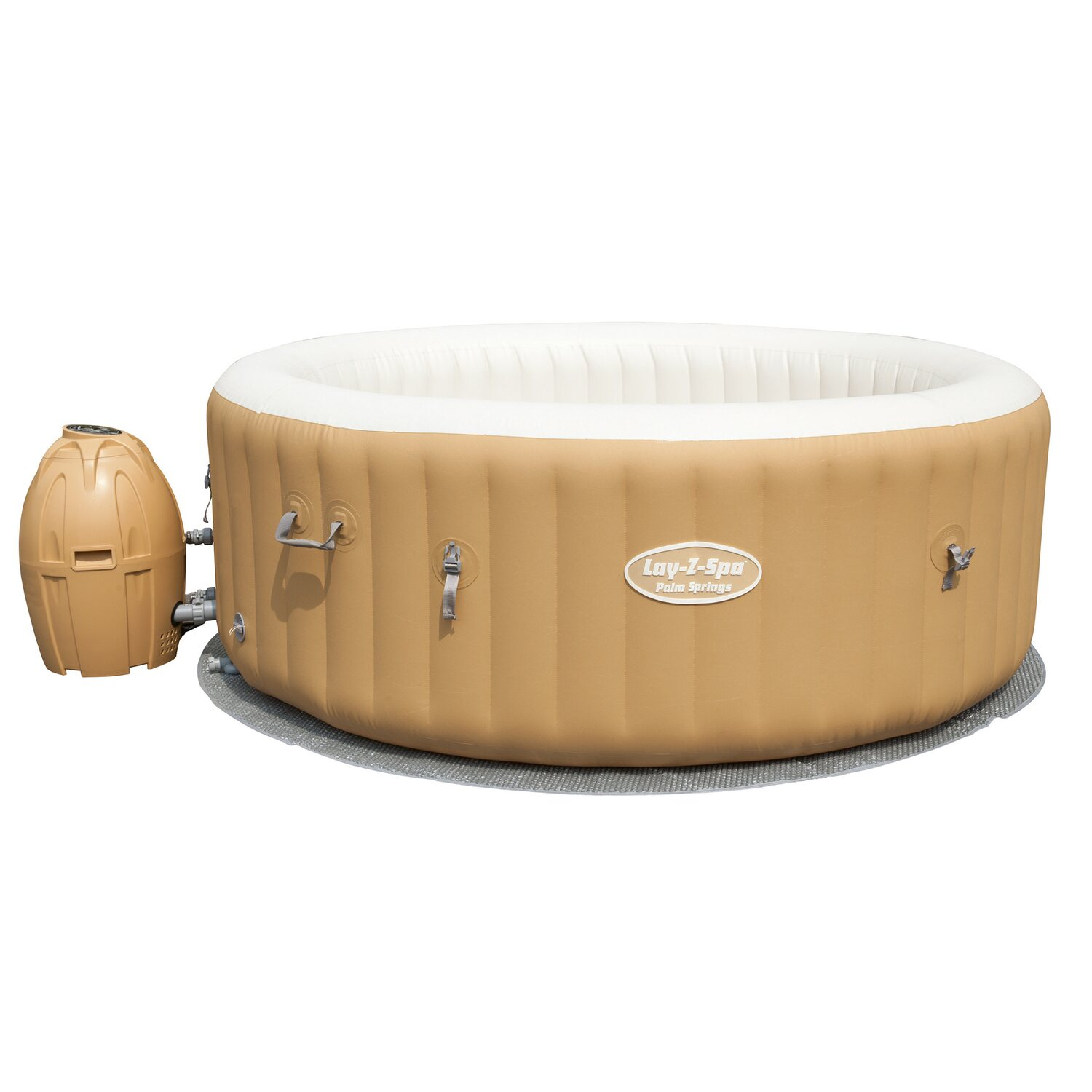 Bestway lay z spa whirlpool palm springs f r 6 personen for Bestway pool bei obi