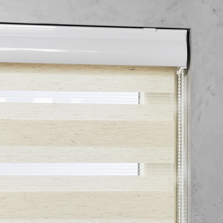 cocoon doppelrollo mit kassette tageslicht leinen 110 cm x 175 cm kaufen bei obi. Black Bedroom Furniture Sets. Home Design Ideas