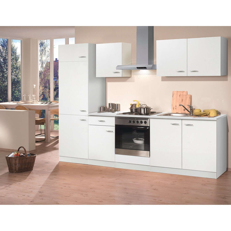 Küchenblock 270 cm mit E-Geräten Edelstahl weiß kaufen bei OBI