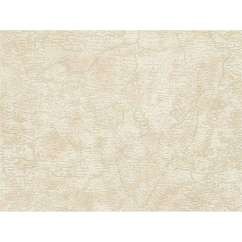 AS Creation A.S. Creation Papiertapete Dekora Natur Weltkarte Beige