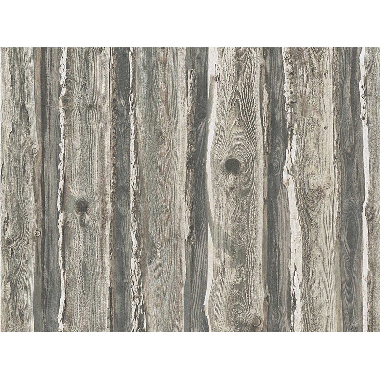AS Creation A.S. Creation Papiertapete Dekora Natur Holz Grau