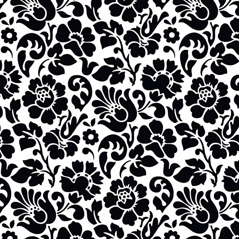 d c fix d-c-fix Klebefolie Barock Weiß-Schwarz 45 cm x 200 cm