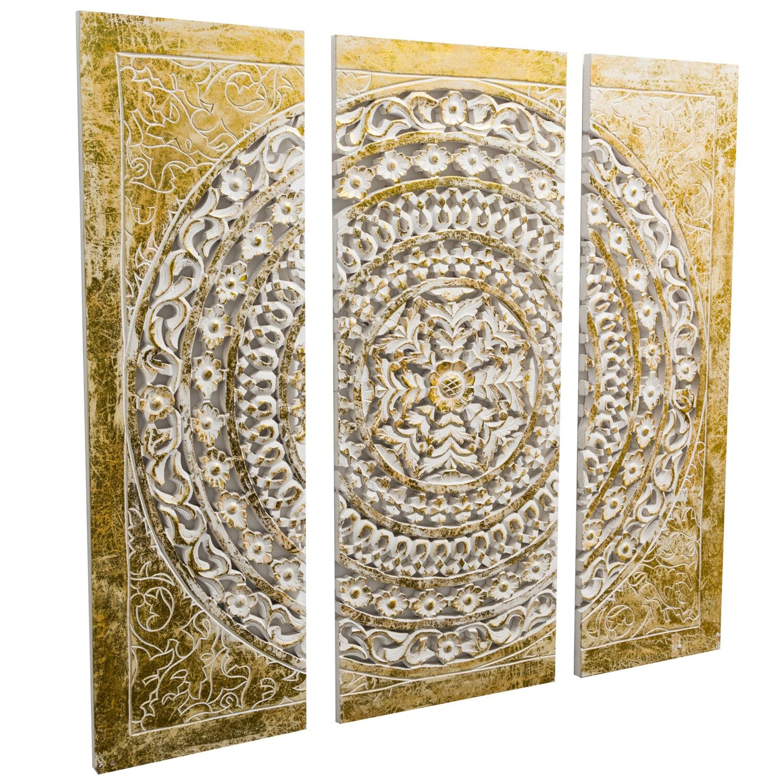 best of home Best of home Wand-Objekt Ornamentik Gold 3-teilig