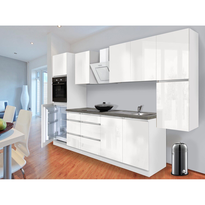 respekta k chenzeile glrp320hww grifflos 320 cm wei hochglanz kaufen bei obi. Black Bedroom Furniture Sets. Home Design Ideas