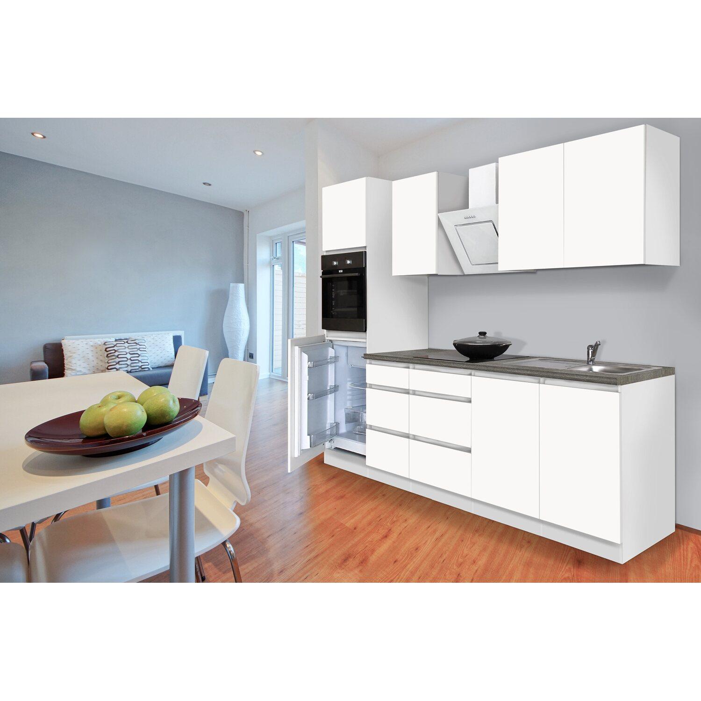 respekta k chenzeile ohne e ger te 270 cm wei matt kaufen bei obi. Black Bedroom Furniture Sets. Home Design Ideas