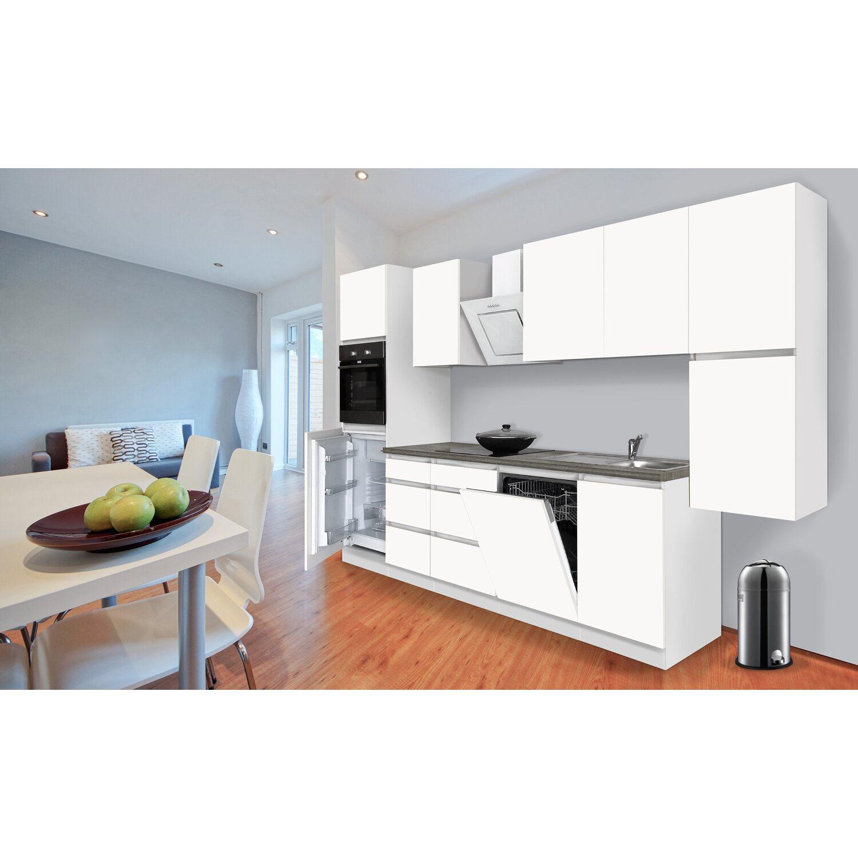respekta k chenzeile ohne e ger te 330 cm wei matt kaufen bei obi. Black Bedroom Furniture Sets. Home Design Ideas
