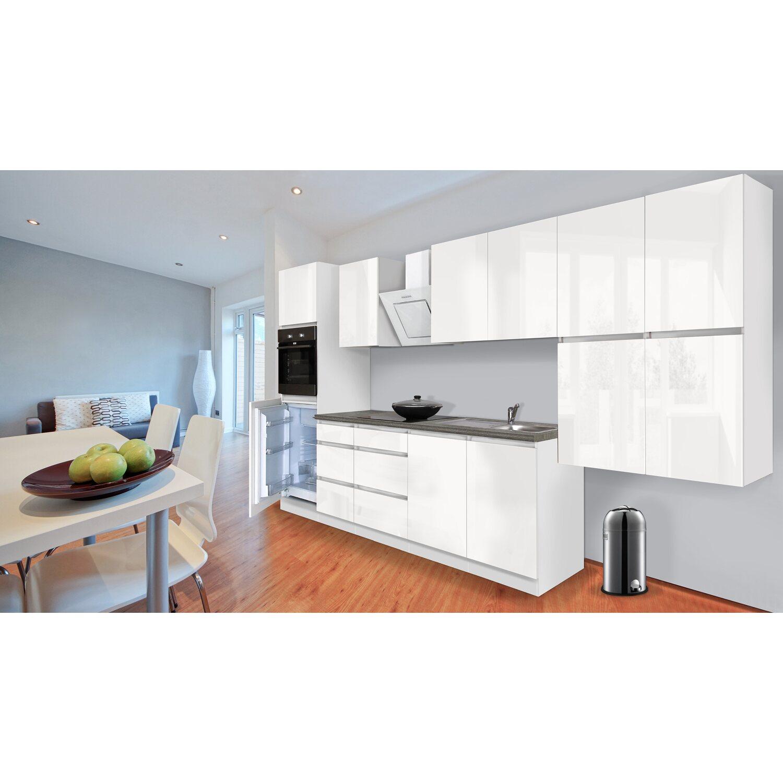 respekta k chenzeile ohne e ger te 370 cm wei hochglanz kaufen bei obi. Black Bedroom Furniture Sets. Home Design Ideas