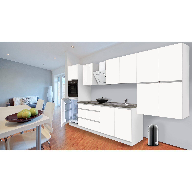 respekta k chenzeile ohne e ger te 370 cm wei matt kaufen bei obi. Black Bedroom Furniture Sets. Home Design Ideas