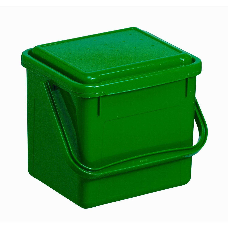 rotho komposteimer eckig gr n 4 5 l kaufen bei obi. Black Bedroom Furniture Sets. Home Design Ideas