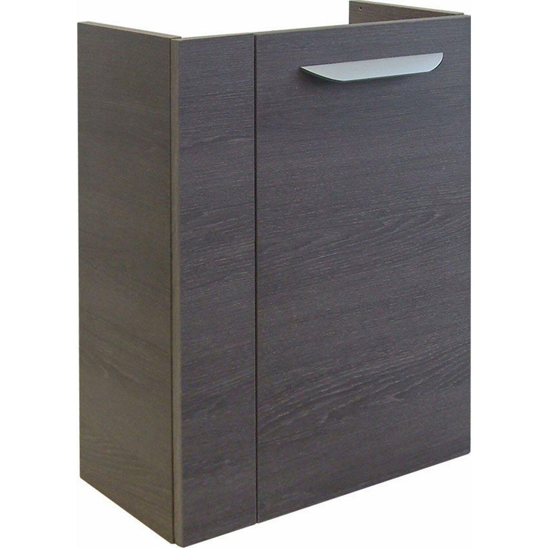 Fackelmann  Gäste-Waschbeckenunterschrank rechts 44 cm Lavella Eiche Cognac