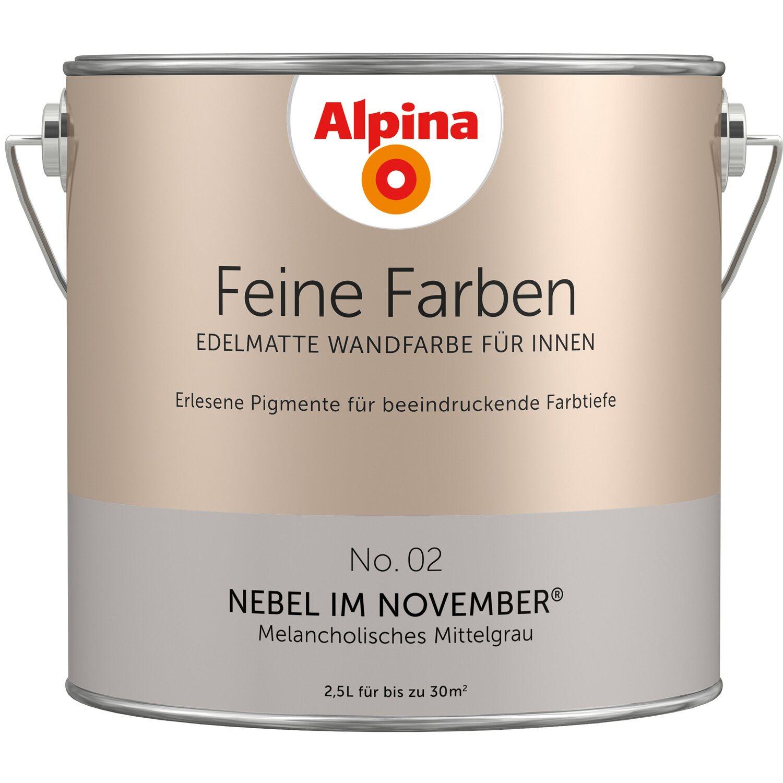 Alpina Feine Farben No. 2 Melancholisches Mittelgrau edelmatt 2,5 l