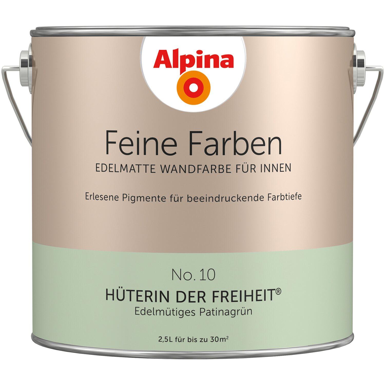 Alpina Feine Farben No. 10 Edelmütiges Patinagrün Edelmatt 2,5 L
