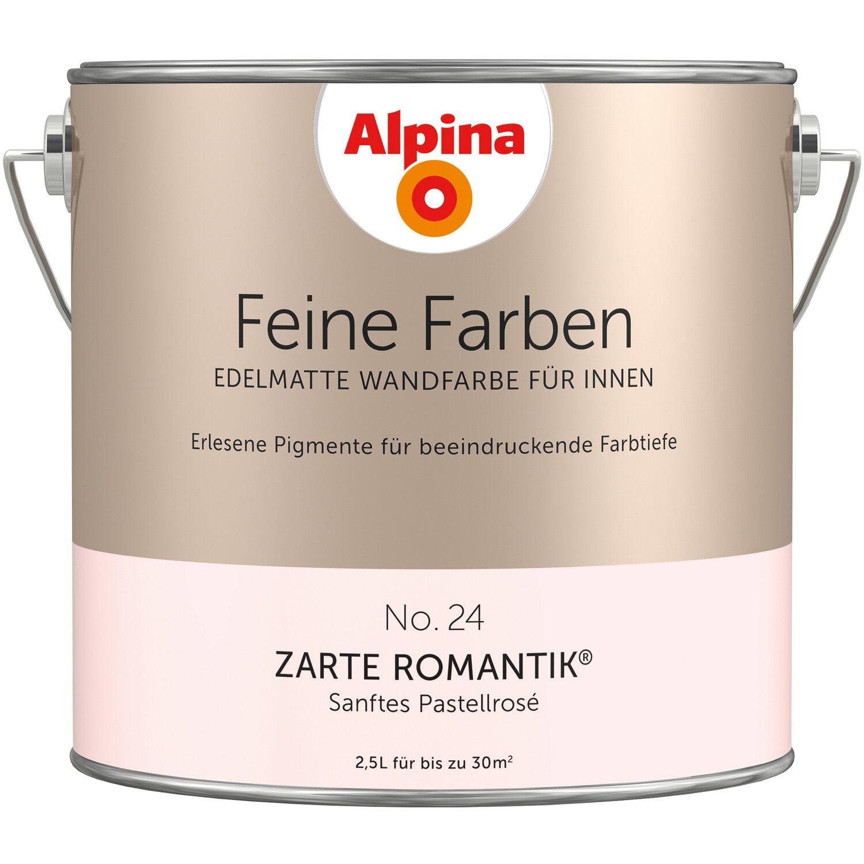 AuBergewohnlich Alpina Feine Farben No. 24 Sanftes Pastellrose Edelmatt 2,5 L