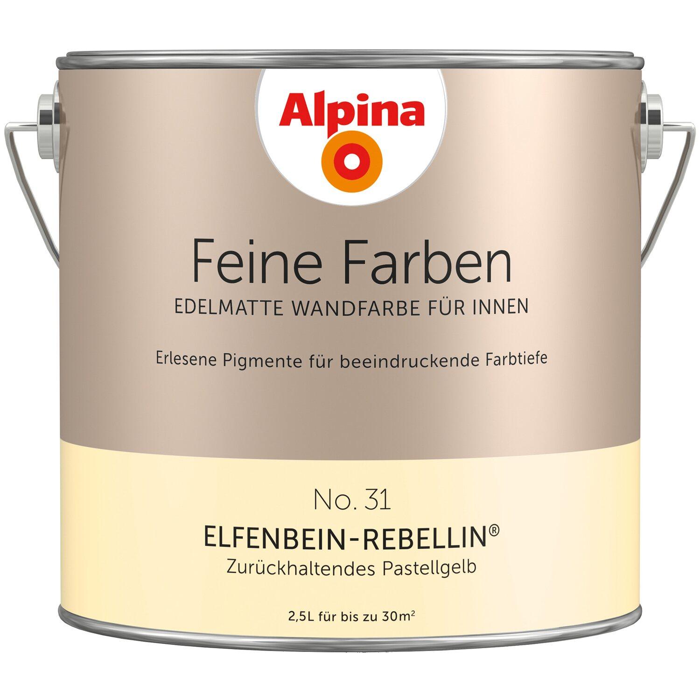 Alpina Feine Farben No. 31 Zurückhaltendes Pastellgelb Edelmatt 2,5 L