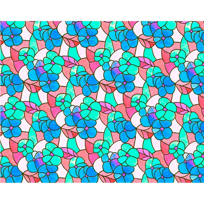 d c fix d-c-fix Klebefolie Lisboa Spring Rot-Blau-Transparent 45 cm x 150 cm
