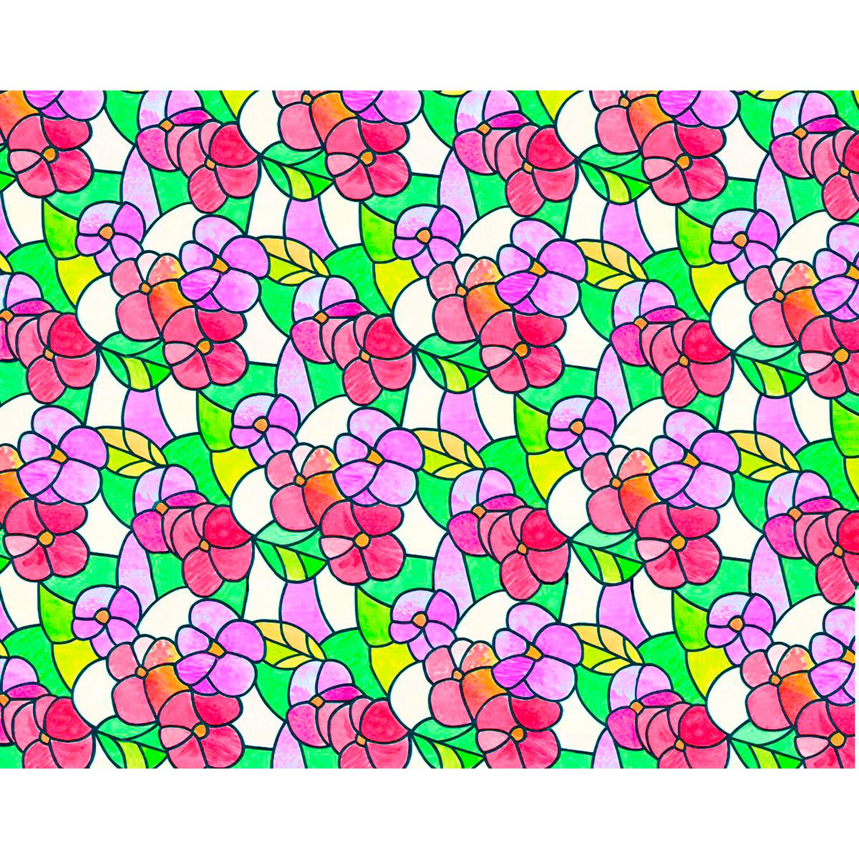 d c fix d-c-fix Klebefolie Lisboa Summer Rot-Transparent 45 cm x 150 cm