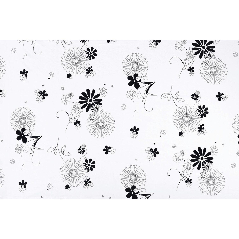 d c fix d-c-fix Tischdecke Mila Weiß-Schwarz 140 cm rund